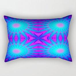 Fuchsia Pink & Blue Starburst Rectangular Pillow