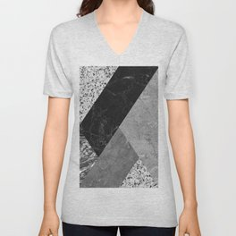 Marble and Granite Abstract Unisex V-Neck