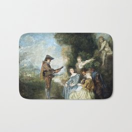 Antoine Watteau The Love Lesson Bath Mat