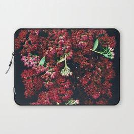 Burgundy Sedum Flowers Laptop Sleeve