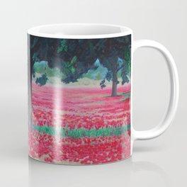 Olive Tree in Poppy Field Coffee Mug