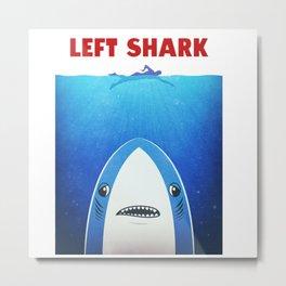 left shark parody jaws Metal Print