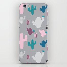 Cactus pink and grey #homedecor iPhone Skin
