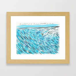 The Waves/ Dream Waves Framed Art Print
