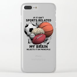 Sports Related Clear iPhone Case