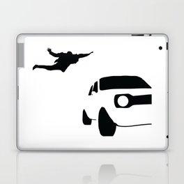 Car Jump Silhouette (Jumping Onto Moving Car) Laptop & iPad Skin
