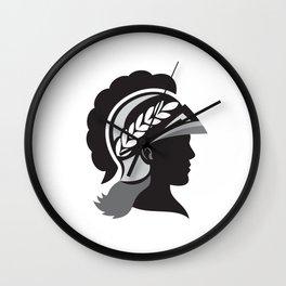 Minerva Head Side Silhouette Retro Wall Clock