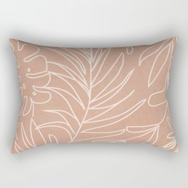 Engraved Tropical Line Rectangular Pillow