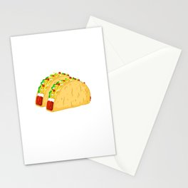 Did Someone Say Tacos? Funny Graphic T Shirt Taco Gym Lover Stationery Cards