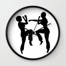 Martial Arts Girls Wall Clock