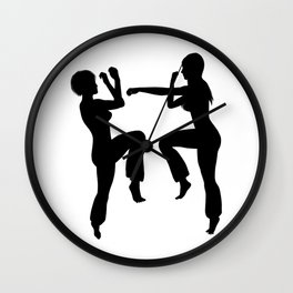Martial Arts Girls Wall Clock