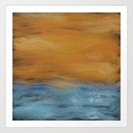 Stormy Seas Original Digital Painting #society6 #buyonline Art Print