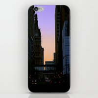 cityscape iPhone & iPod Skins featuring Cityscape by Tatum Kevlin