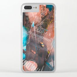 Lonely Taxi Clear iPhone Case