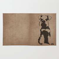 schnauzer Area & Throw Rugs featuring Miniature Schnauzer by illustrious state