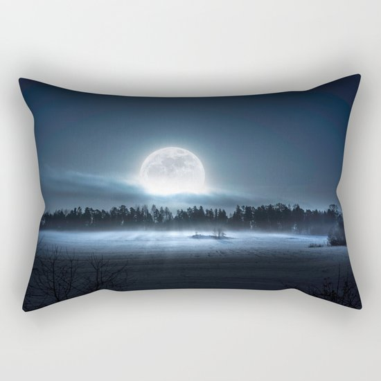 When the moon wakes up Rectangular Pillow
