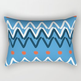 Funky Mud Cloth Art Design Rectangular Pillow