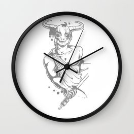 Bull Warrior in Toga Wall Clock