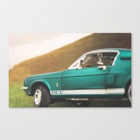 mustang Canvas Prints featuring Mustang by emran