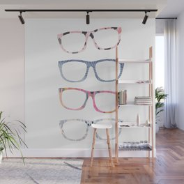 Bespectacled // Watercolor Glasses Print Wall Mural