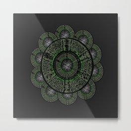 The Grey Flower Metal Print