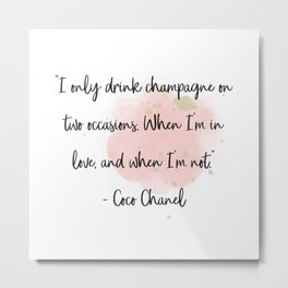 Women quote Metal Print