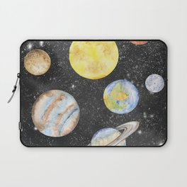 Watercolor Planets Laptop Sleeve