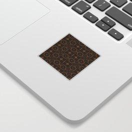 Black and Bronze 2666 Sticker