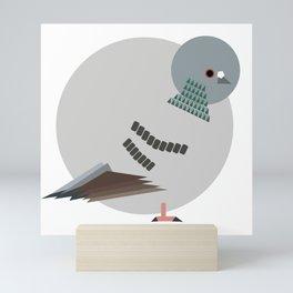 Geometrical Rock Pigeon Mini Art Print