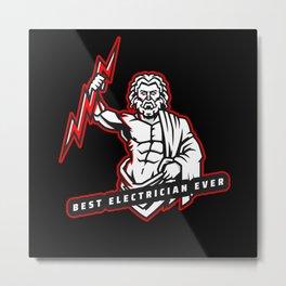 Best Electrician Ever Metal Print