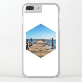 Ocean Walk - Geometric Photography Clear iPhone Case