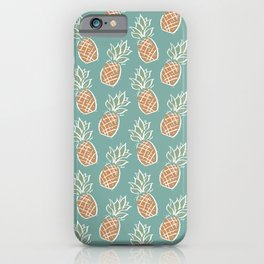 Pineapples | Teal iPhone Case