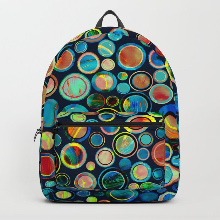 Dots on Painted Background Backpack