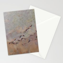 Flamingos Migration Stationery Cards