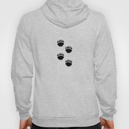 Black Bear Paw Prints Hoody