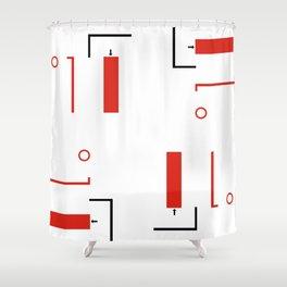 Bauhaus Geometric Modern Art Shower Curtain