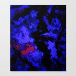Interruption blue Canvas Print