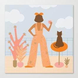 You, Me & a Cup of Tea Canvas Print