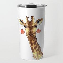 Girafe de Noël Travel Mug