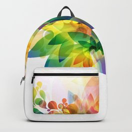 Colorful floral face Backpack