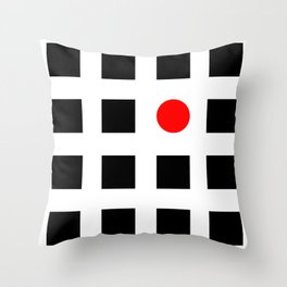 Must Fit In (Circle) Throw Pillow
