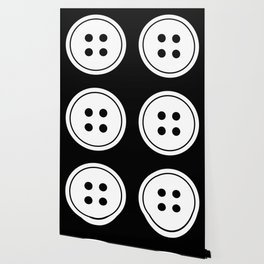 Black and White Buttons Pattern Wallpaper