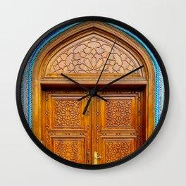 Door of Iranian Mosque in Bur Dubai Wall Clock