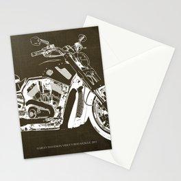 2011 HD VRSCF V-Rod Muscle marron blueprint Stationery Cards