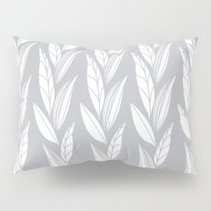 Growing Leaves: Silver Gray  Pillow Sham