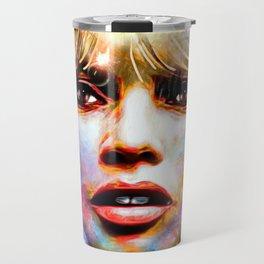 Brigitte Bardot Painted Travel Mug