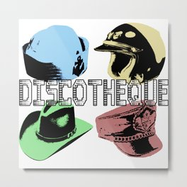 Discotheque U2Pop Metal Print