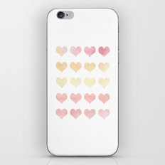 Watercolor Hearts iPhone & iPod Skin