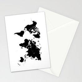 world map 94 black #worldmap #map #world Stationery Cards