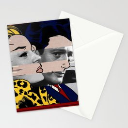 "Roy Lichtenstein's ""In the car"" & Marcello Mastroianni with Anita Ekberg Stationery Cards"